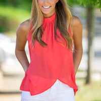 Move To The Front Top-Tomato – Simply Dixie Boutique