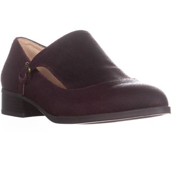 Nine West Nyessa Monk Strap Loafers, Wine Leather, 7.5 US