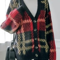 Western Plaid Cardigan