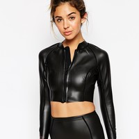 Billabong Peeky Neoprene Cropped Swim Jacket