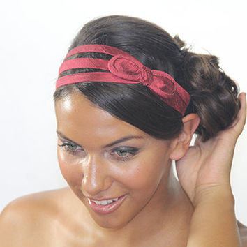 pink headband, bow headband, fabric headband, head bands