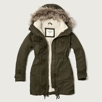 A&F Sherpa Lined Military Parka