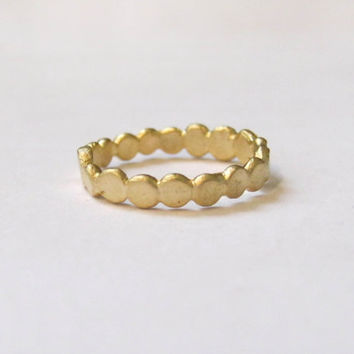 gold ring, hand made, wedding band, engagement ring, circles, rustic, stack ring, delicate and simple ring, perfect gift, baladi