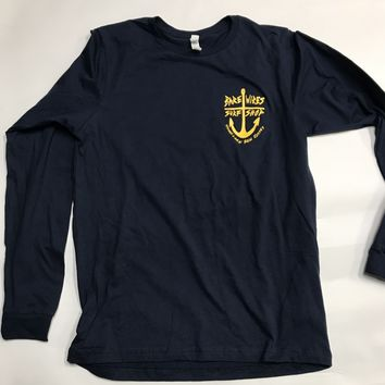 Bare Wires Surf Shop LS Tee-Navy
