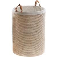 DWBA Malacca Single Round Spa Hamper Laundry Basket with Handles  - Rattan