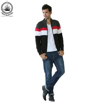 Eden Park FRED MARINE Mens Knitted Cardigan Outwear Casual Style Hooded Sweater Coat Without Buckle Men Long Sleeve Sweater 1281