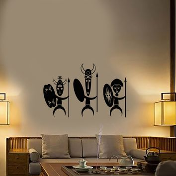 Vinyl Wall Decal Ancient Cartoon African Natives Tribe Stickers (2976ig)