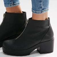ASOS ROOKIE Zip Front Ankle Boots