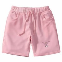 Pink Panther 2018 summer new men and women casual five pants F0702-1 pink
