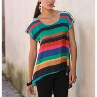 SUBLIMATED STRIPE HI LOW SHIRT