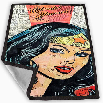 Wonder Woman Superhero Comic Book Blanket for Kids Blanket, Fleece Blanket Cute and Awesome Blanket for your bedding, Blanket fleece *