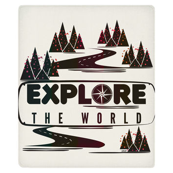 Explore the World Fleece Throw