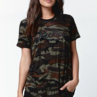Young & Reckless Big R Camo Short Sleeve T-Shirt - Womens Tee - Camo