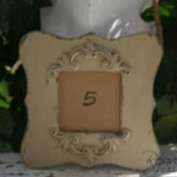 20 - table number holders (frames only) / frames distressed frames shabby chic weddings wedding decor rustic wedding table numbers