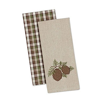 Pine Sprig Dishtowels - Set of 2