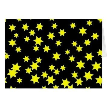 Yellow Stars Card