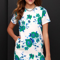 Bloom My Mind Cream Print Dress