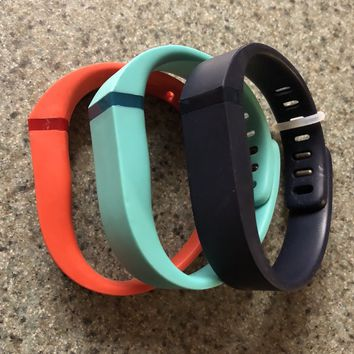 Fitbit Flex Small Red, Turquoise, Navy bands