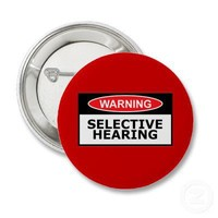 Funny hearing buttons from Zazzle.com
