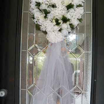 Best door decorations for bridal shower products on wanelo for Wedding door decorating ideas