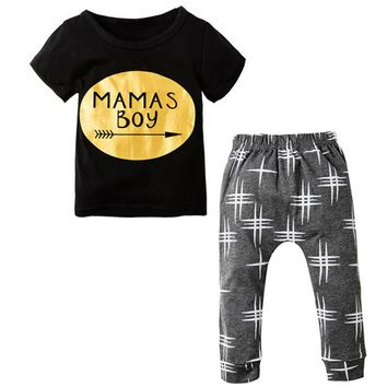 Cartoon Animals Baby Clothing Set Newborn Cotton Costume Infant Boy Clothes ShortSleeve T-shirt Outfit Tops+Pants Baby Kids Set