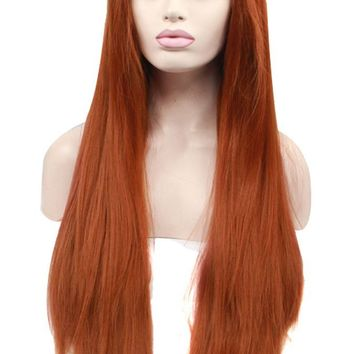 Ebingoo Fashion Sexy Women Lace Front Wig Brown Heat Resistant Straight Hair Synthetic Lovely Party Wigs (20)