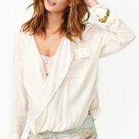 Twisted Up Blouse - Cream