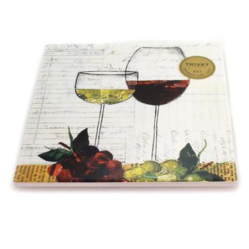 Kitchen Wine Glasses Trivet Tabletop