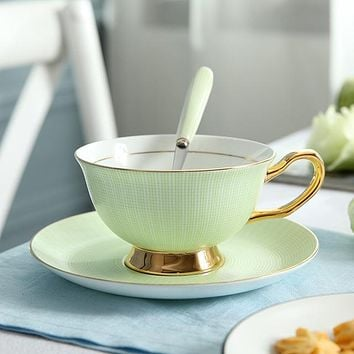 Bone China Luxury Tea Cup Set Party Cafe Drinkware