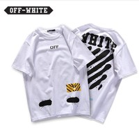 KU-YOU Off-White white T-shirt
