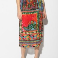 Urban Renewal Smocked Gauze Maxi Skirt