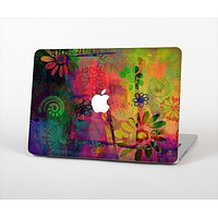 "The Neon Colored Grunge Surface Skin Set for the Apple MacBook Pro 15"" with Retina Display"