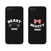 Beauty and Beast Mode Matching Phone Cases for Iphone 5 5s Gift for Couples