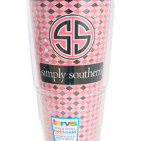 "Simply Southern ""Pink Patterned"" Tervis"