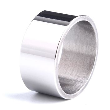 free shipping Light version wide wedding  rings for men 316L Stainless Steel women ring jewelry  wholesale lots