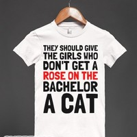 Bachelor Cat-Female White T-Shirt