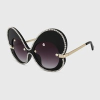 Oversized 60's Butterfly Bling Sunglasses