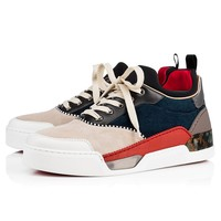 Best Online Sale Christian Louboutin Cl Aurelien Flat Version Multi Patent Leather Sneakers 3171111cma3