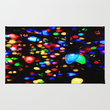 Christmas Lights Area & Throw Rug by 2sweet4words Designs