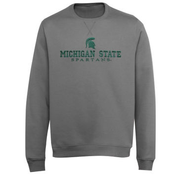Michigan State Spartans Block V-Notch Sweatshirt - Charcoal