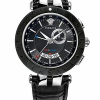 Versace - Black and Steel V Race GMT 46 mm