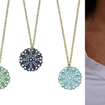 Shabby Chic Filigree Necklaces-Perfect Gifts
