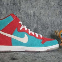 Nike Dunk High PRO Premium SB SZ 12 Bloody Gums Skateboard Rare EX Sneakers