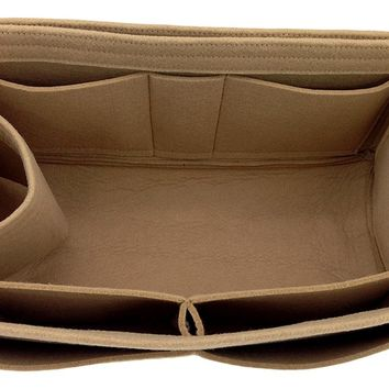 Felt Purse Handbag Tote Organizer Insert - Multi Pocket Storage Liner & Shaper