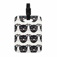"Vasare Nar ""Grumpy Cat"" Black Animals Decorative Luggage Tag"
