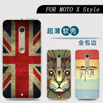Phone case For Motorola Moto X Style Moto X Pure Edition Cute Cartoon High Quality Painted TPU Soft Case Silicone Shell