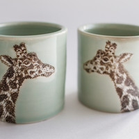 Set of Giraffe Cups