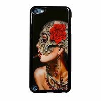 Floral Sugar Skull Cigarettes iPod Touch 5th Generation Case