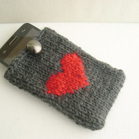 Valentine's day gift - Cellphone case - Phone wallet - Smartphone cover - I Phone 4s case - LG optimus case