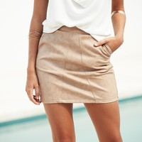 99 Problems Skirt (Tan)